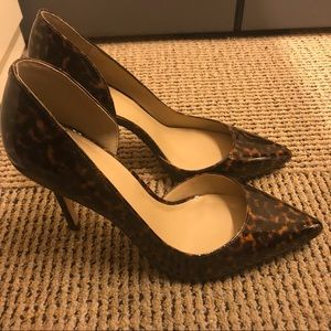 Ann Taylor tortoise/animal print pumps